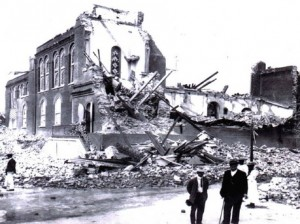 Holy Trinity Cathedral, Kingston after 1907 Earthquake (Taken from Gleaner Online 2012) Are Jamaicans more prepared 107 years later?