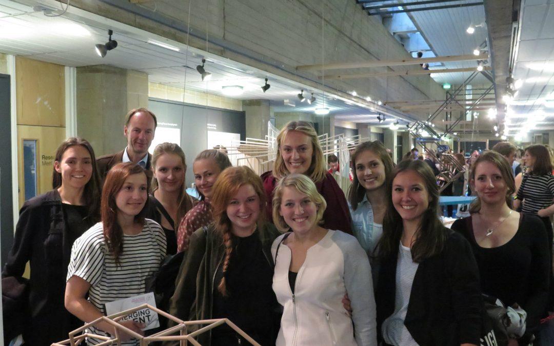 German students visit degree show