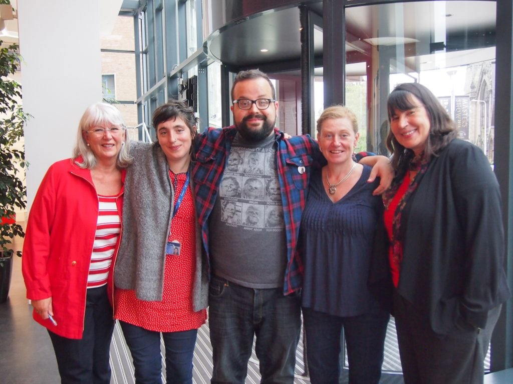 Gayle Williamson (Fife DAS), Joletta Thorburn, Sam, Goncalves, Siobhan Morison and Mary Modeen (DJCAD)