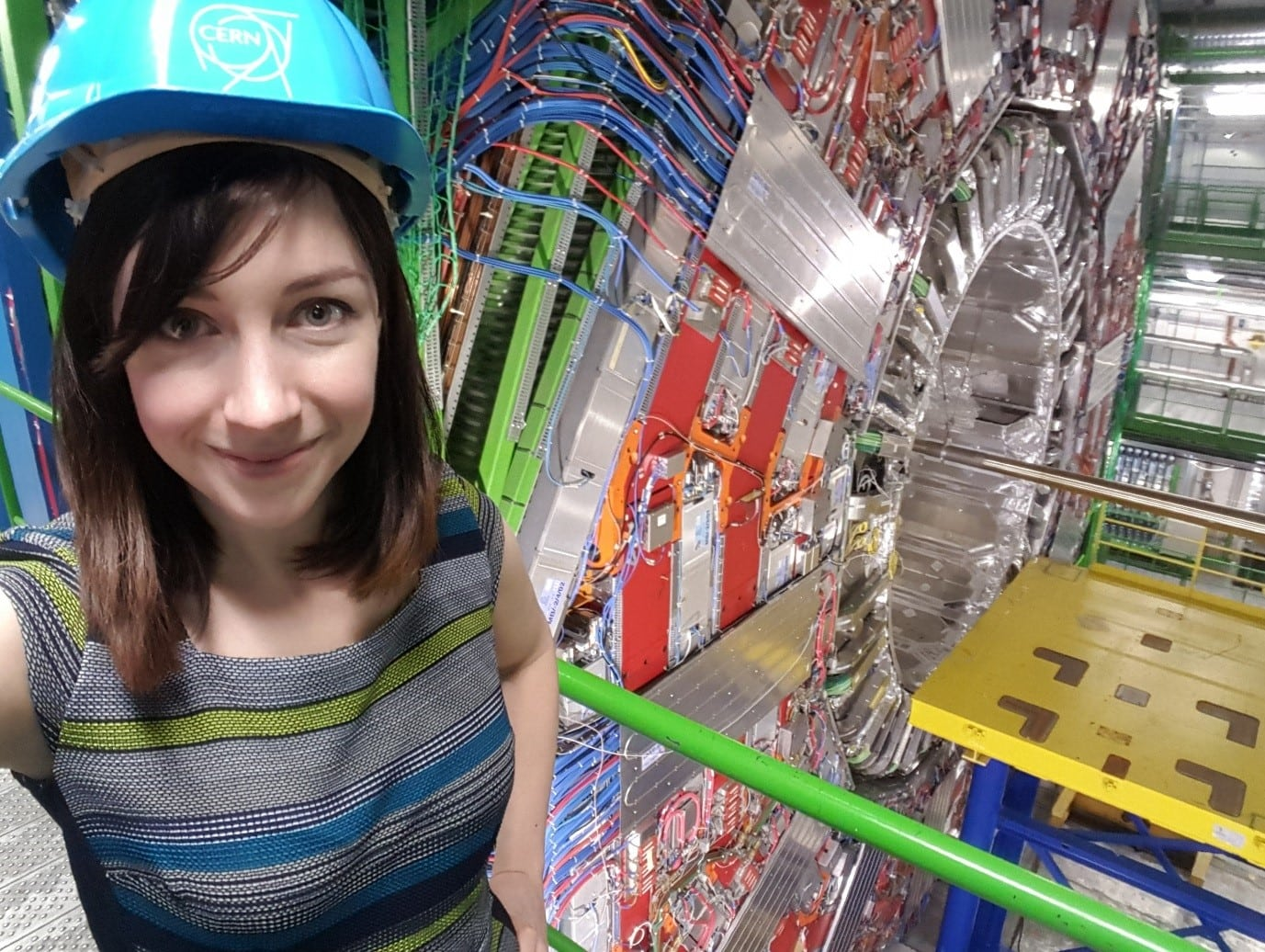 Orla Kelly at the CMS detector, one of the main detectors in the LHC at CERN
