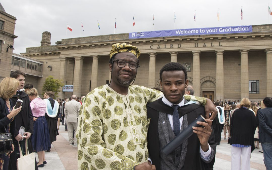 Graduation a family affair as father and son collect degrees
