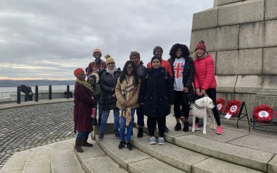 International Nursing and Health Sciences students climb Dundee Law on Remembrance Sunday