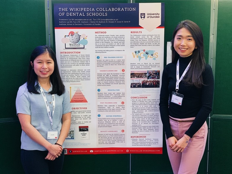 Dundee Dental students take home poster prize for Wiki collaboration
