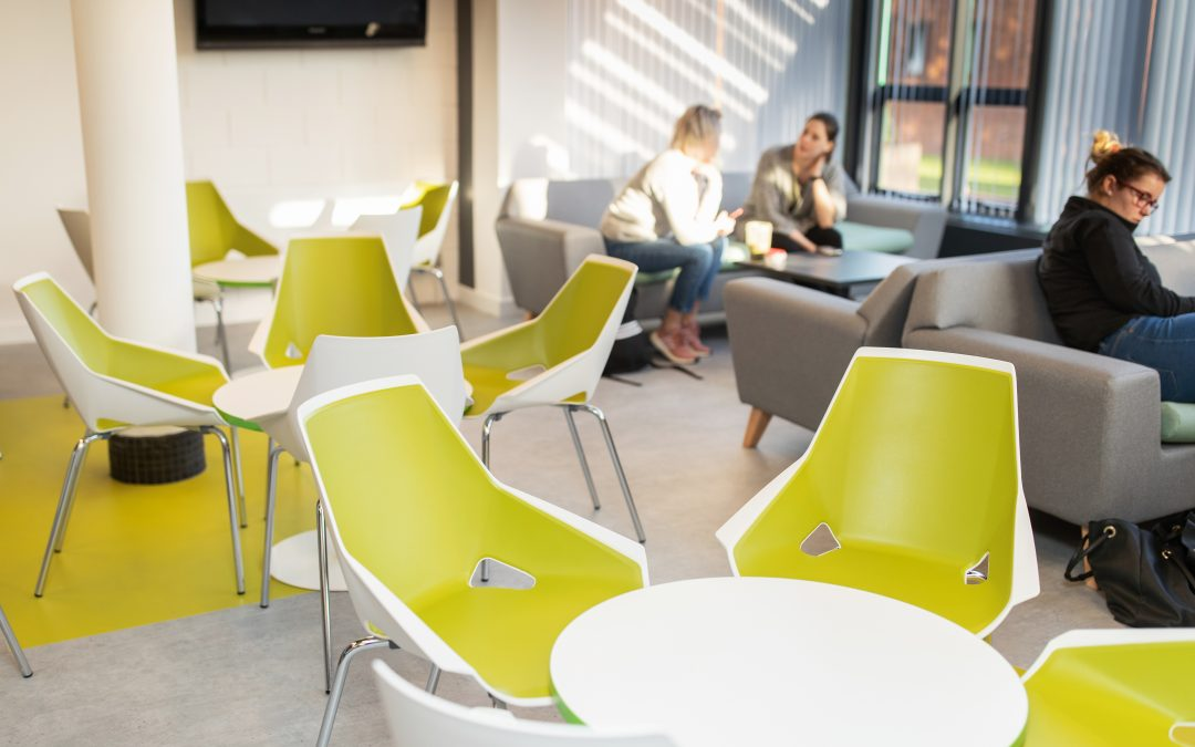 A new social space at the Kirkcaldy campus has been unveiled