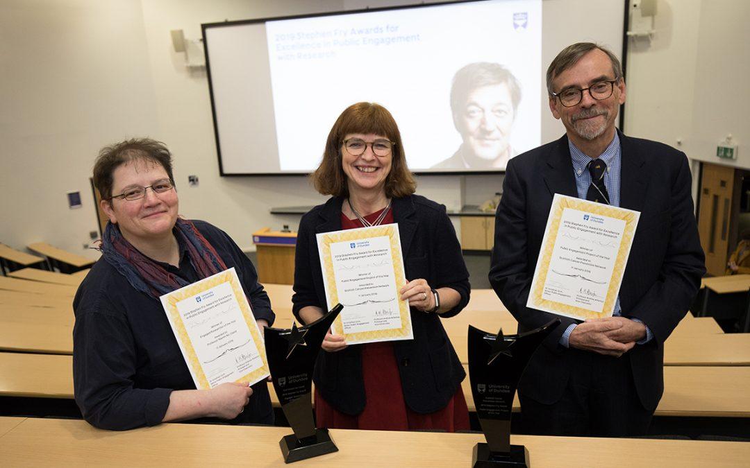 Stephen Fry hails engagement award winners