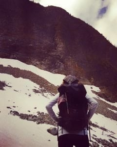 Christina Hiking in the North Cascades