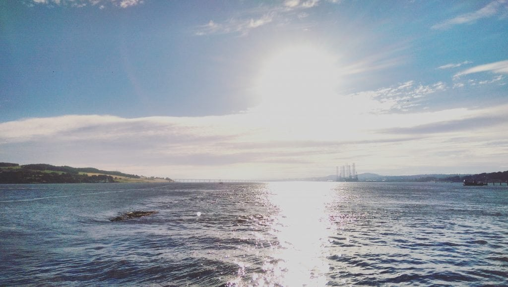 River Tay Looking toward Dundee and Port of Dundee