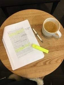 studying in starbucks