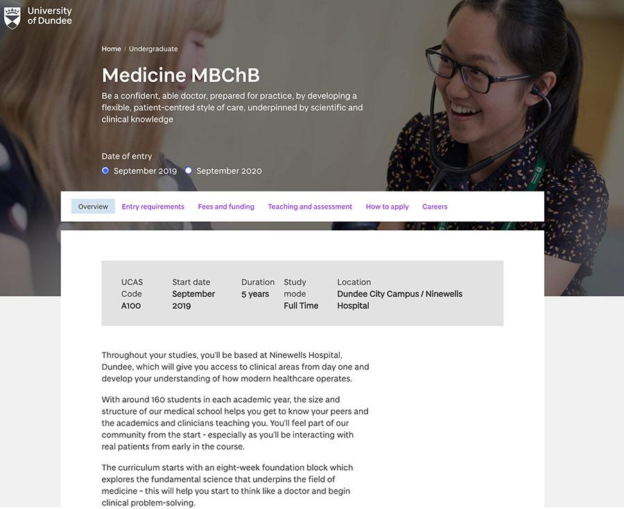 Medicine course page