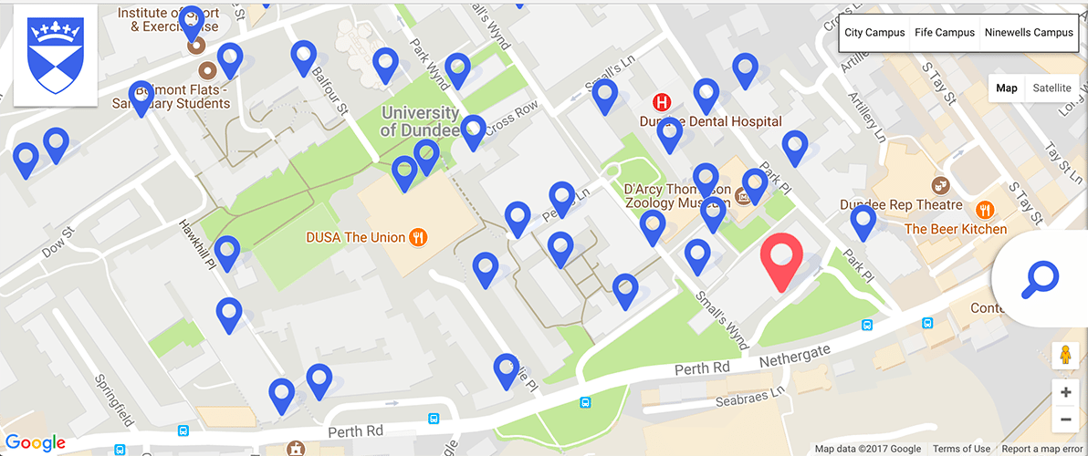 Image of the new campus map